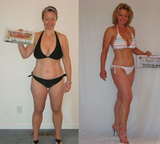 female weight loss success story