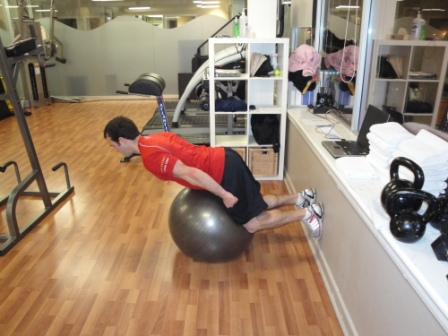 glute ham raise on ball