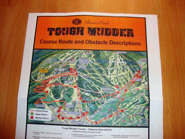 The Tough Mudder Map