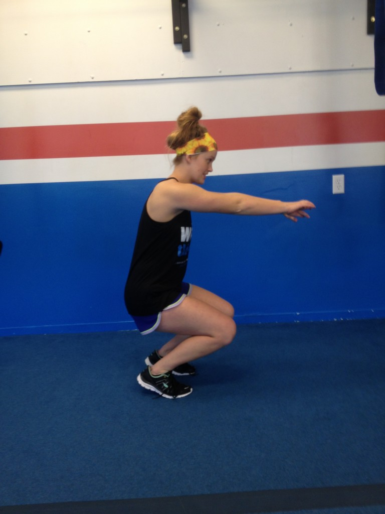 Squats when knees bend first