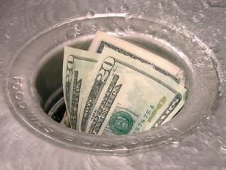 Money: Down the Drain