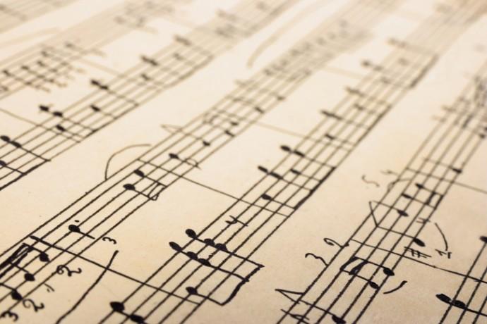 Retro sheet music