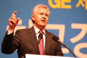 """May 28, SEOUL, South Korea -- Jeffrey Immelt, chairman of GE, delivers a special lecture on """"Growth strategy, globalization and leadership"""" during a breakfast meeting hosted by the Korea Management Association at a Seoul hotel on May 28. (AAP Image/YONHAP) NO ARCHIVING, AUSTRALIA ONLY"""