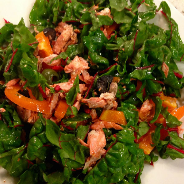 Winter Salad with Citrus Salmon & Olives