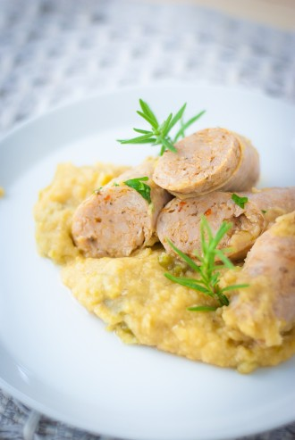 Red Lentils and Sausage