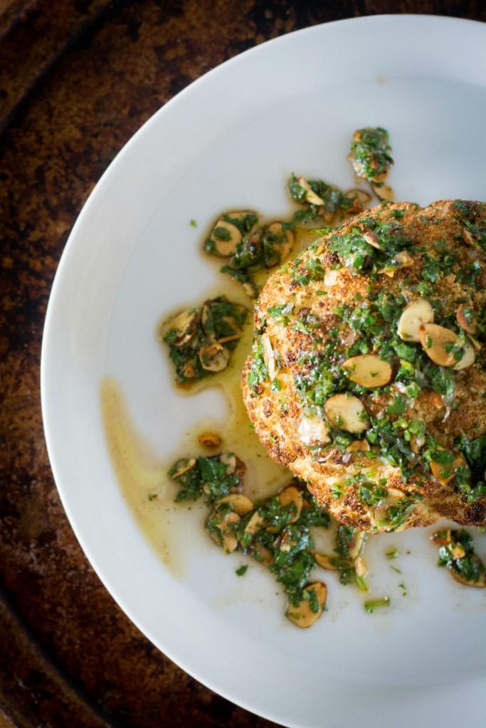 cauliflower with cilantro and garlic