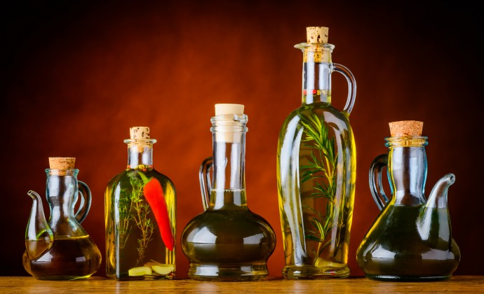 Cooking Oil in different shaped bottles