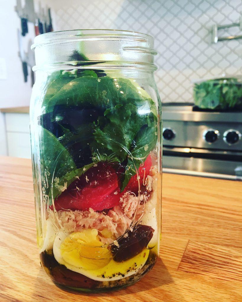 mediterranean salad mason jar recipe