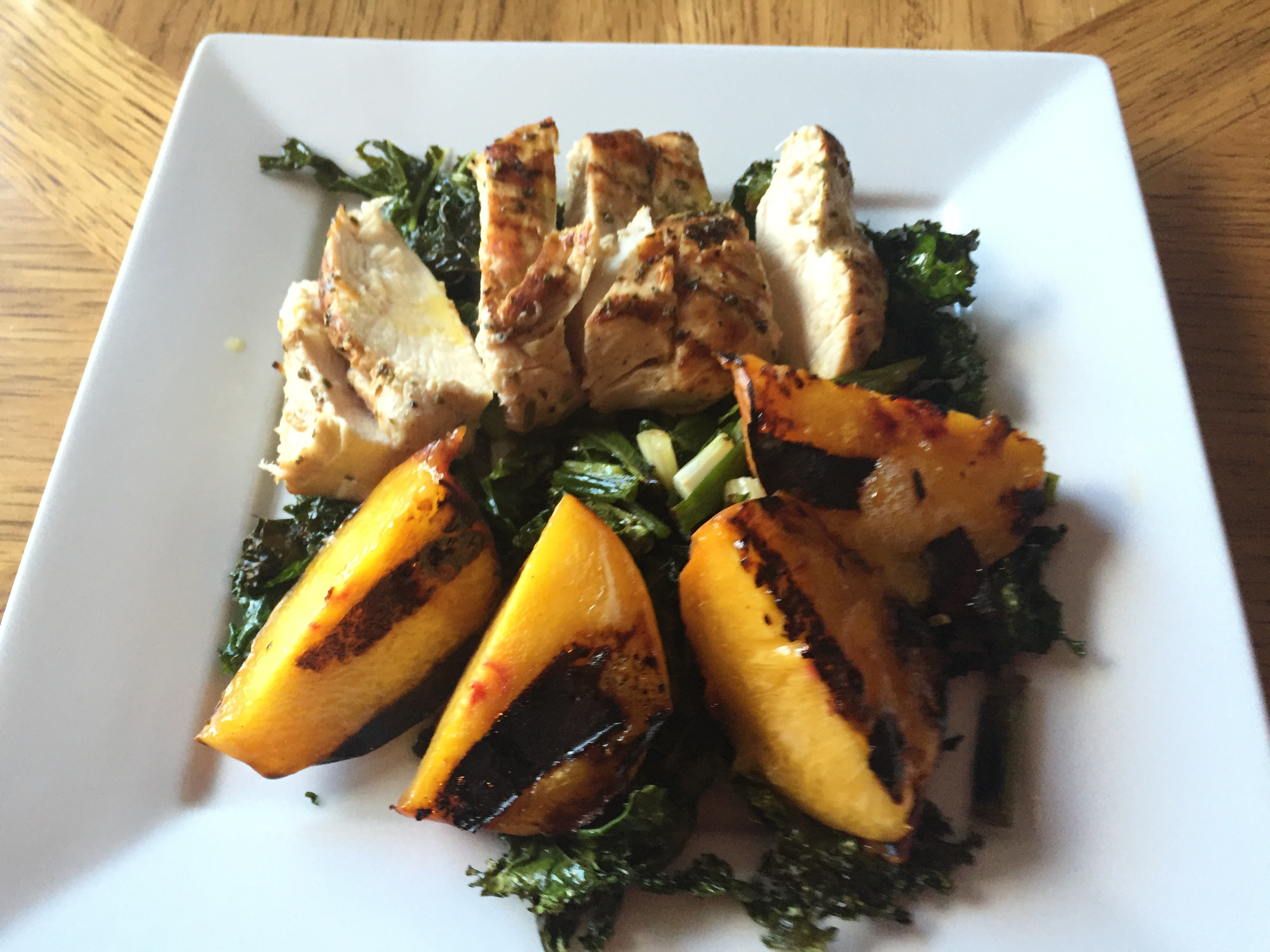 Summer Recipe (Grilled Peach Salad)