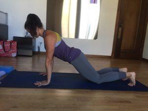 chaturanga yoga pose modification