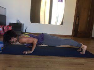 chaturanga yoga pose