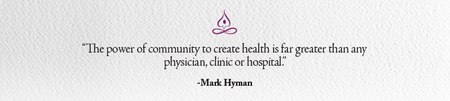 community and health quote