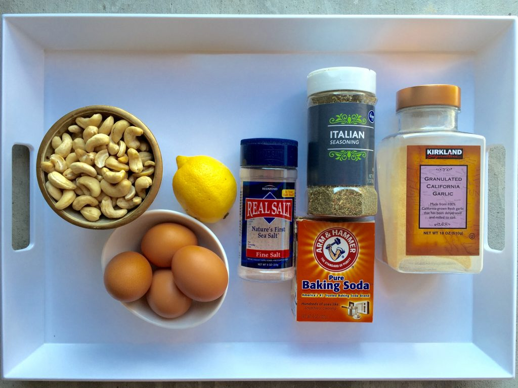 Cashew Butter Pizza Crust Ingredients 1