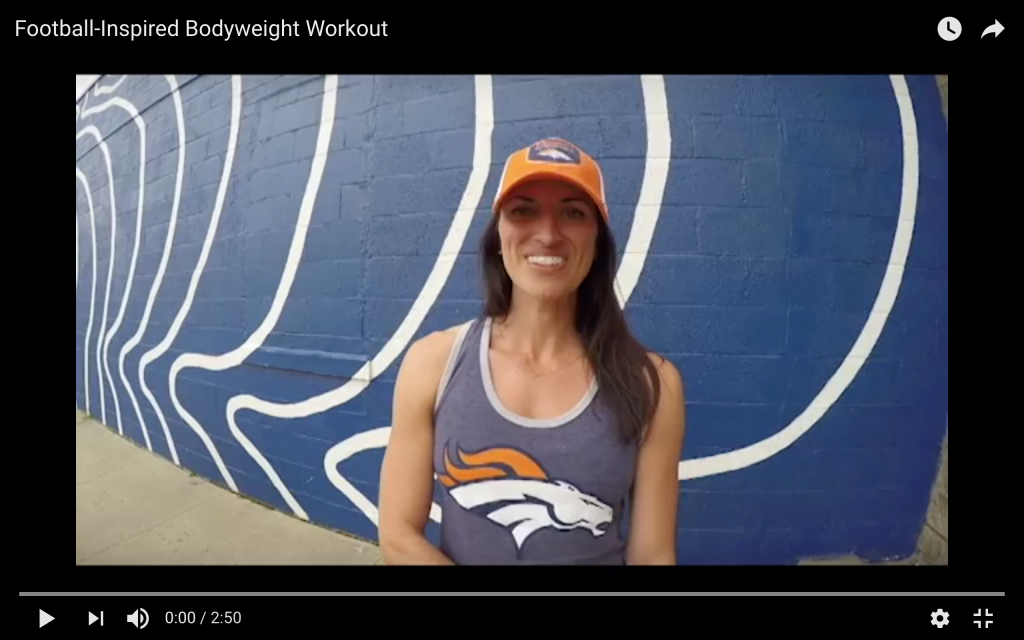 Football-Inspired Bodyweight Workout