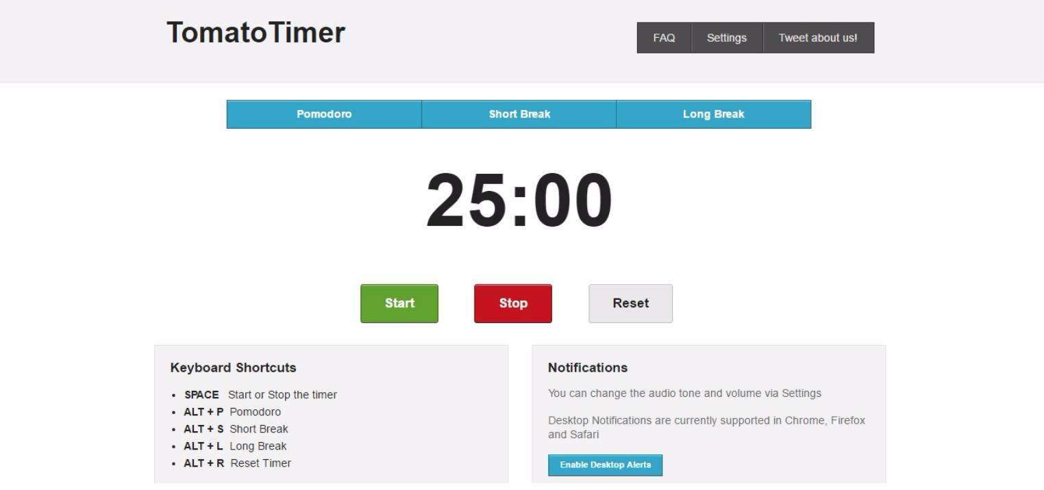 Time saver pomodoro app