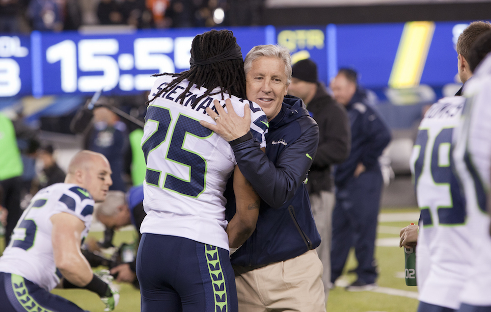 Coach Pete Carroll of the Seahawks
