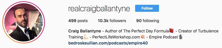 Craig Ballantyne on Instagram