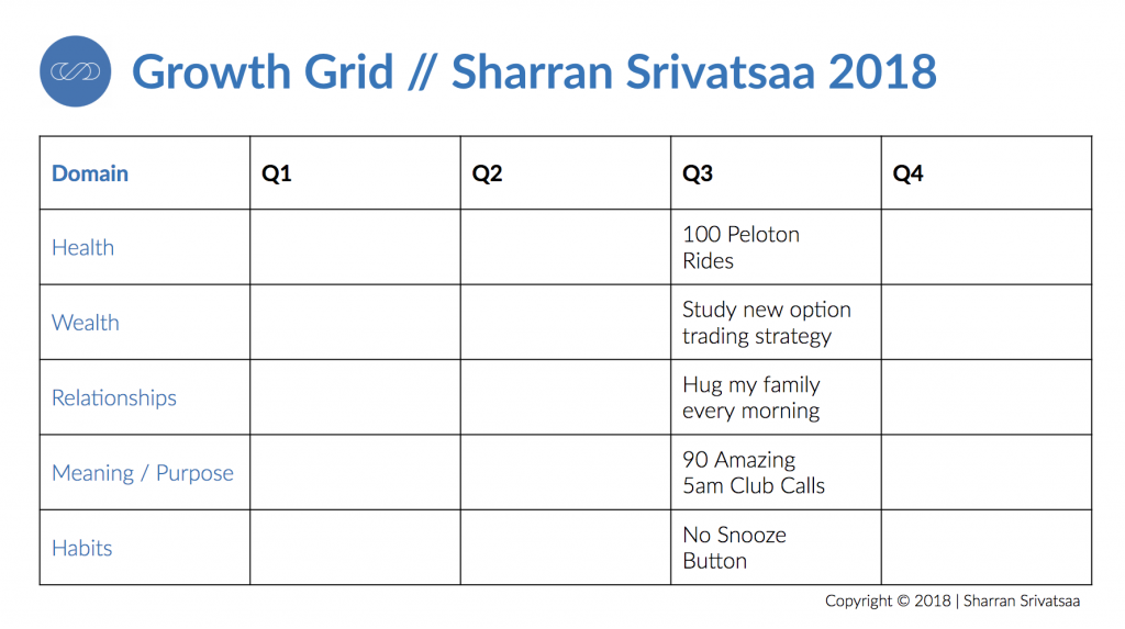 Growth Grid Example, Sharran Srivatsaa